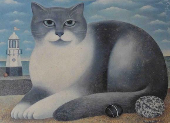 Grey and White Cat, Martin Leman