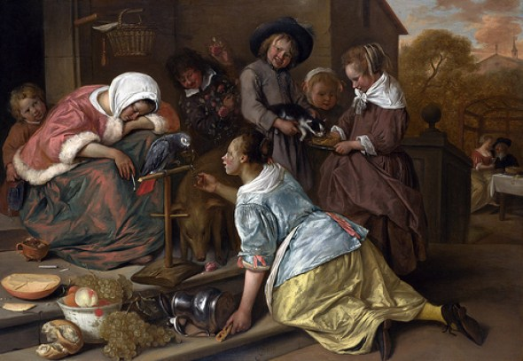 Jan Steen, The Effects of Intemperance, c. 1663-1665,