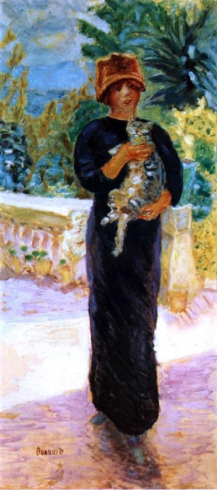 Marthe à la chatte ( Marthe Bonnard and the Cat) 1912, P. Bonnard