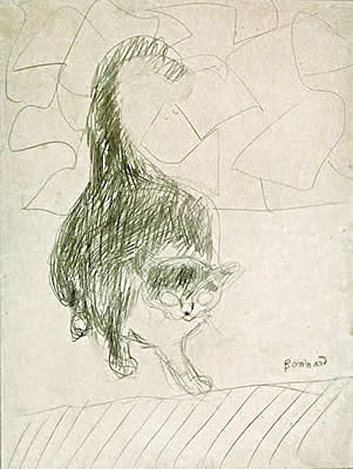 Sketch - Le Chat The Cat Pierre Bonnard