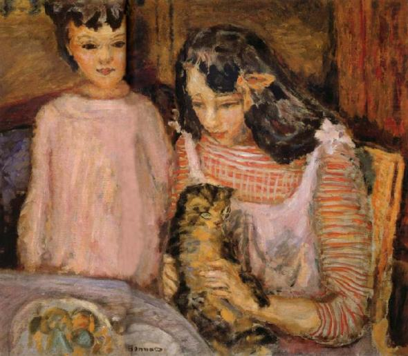 Two Girls and a Cat, P. Bonnard