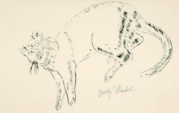 Andy Warhol cats, sketch, cat art