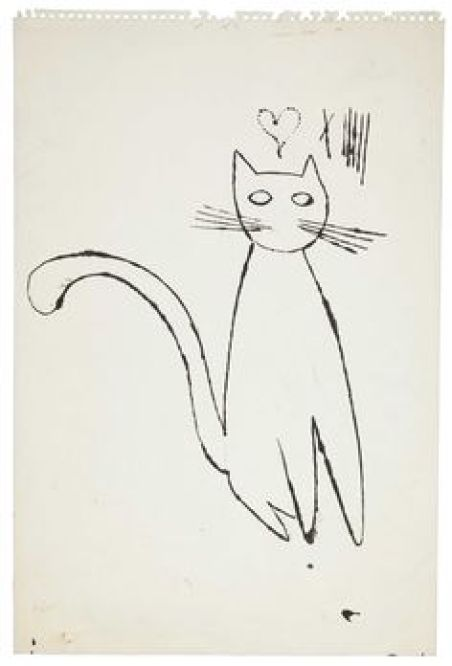 Andy Warhol, cat sketch