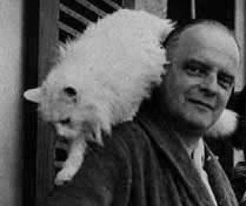 Paul Klee with his cat Bimbo, 1935