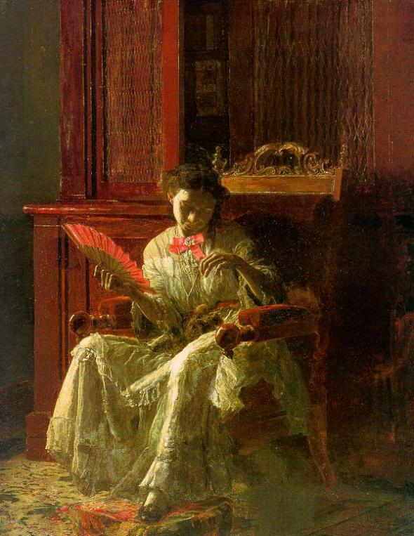 Thomas Eakins, Kathrin, 1872, cat art
