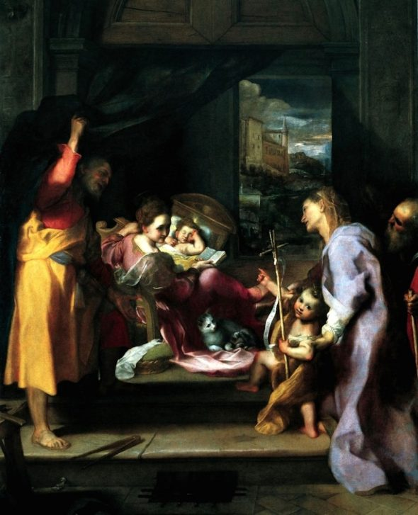 Annunciation with Cat, Federico Barocci