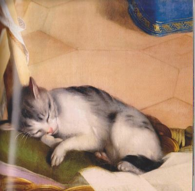 Detail of Cat The Annunciation Federico Barocci