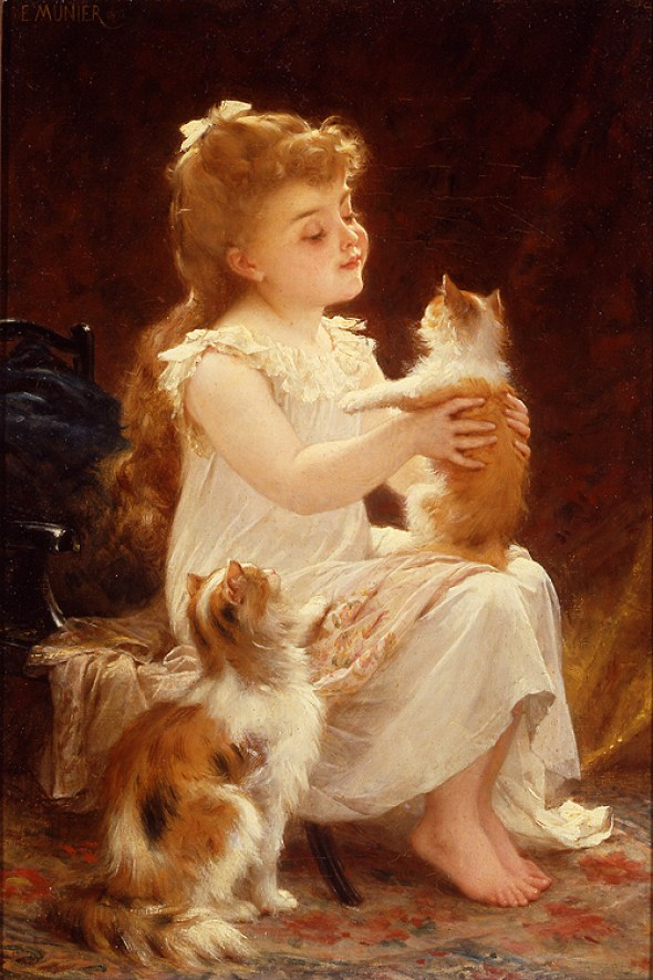 42d59d30bc97 Emile Munier Playing with the Kitten 1893