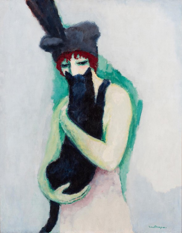 Kees-van-Dongen-•-Woman-with-Cat-•-1908-•-oil-on-canvas