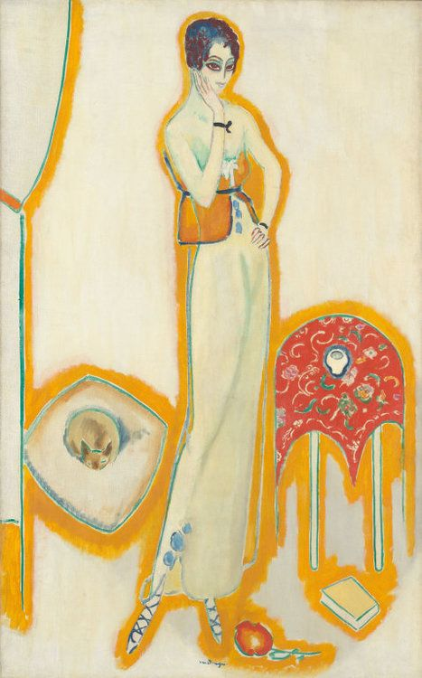 Kees van Dongen Femme au fond blanc, 1910-14