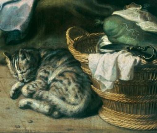 Peter Paul Reubens Detail of cat in Annunciation, 1577, cats in art
