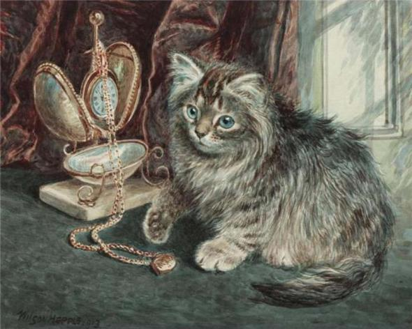 Kitten and watch Wilson Hepple