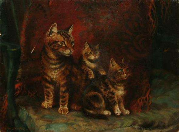 Three Cats, Wilson Hepple