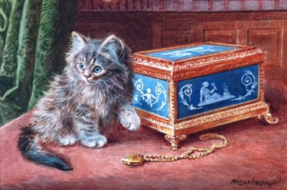 Wilson Hepple.Cat and Pendant