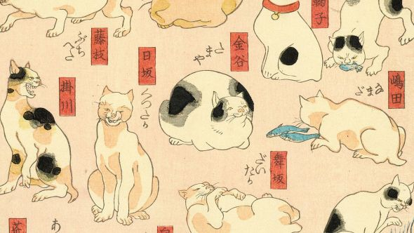 Detail Cats suggested as the fifty-three stations of the Tokaido
