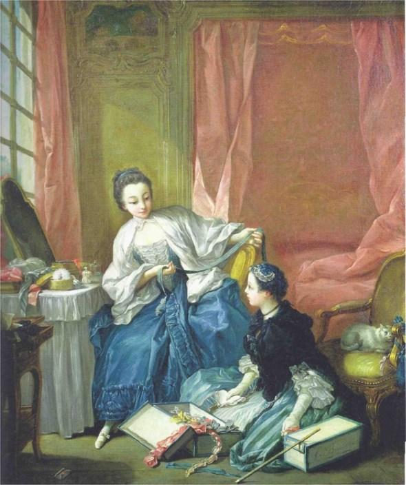 François Boucher (Francia, 1703-1770). La modiste, 1746