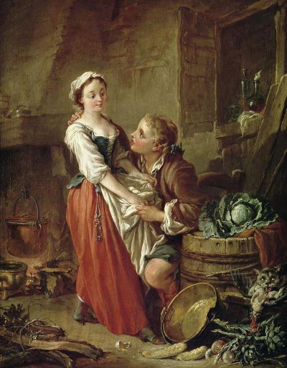 Francois Boucher, The Beautiful Kitchen Maid, 1732