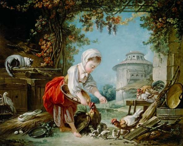 Francois Boucher, The Little Farm Maid