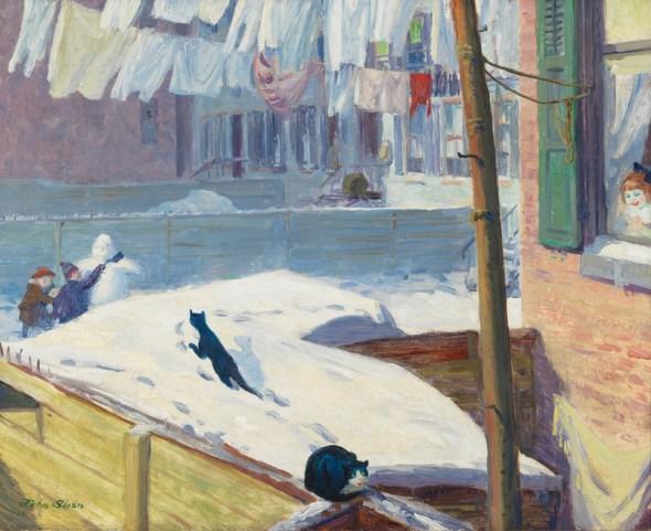 John Sloan (1871–1951). Backyards, Greenwich Village, 1914