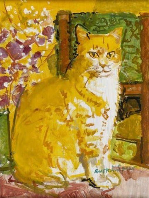 Ruskin Spear (Inglaterra, 1911-1990). The Ginger Cat