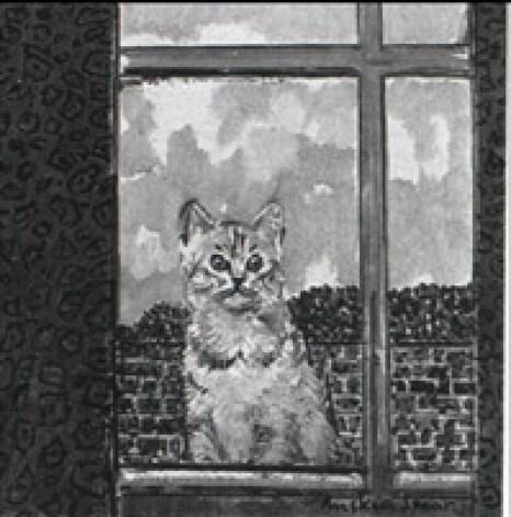 Ruskin Spear, The Studio Window, cat art