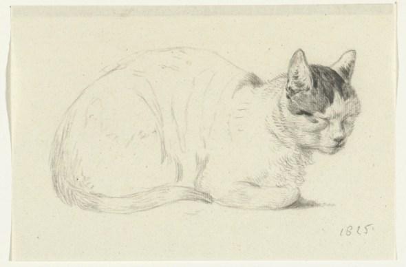 Seated Cat Facing Right, 1815, Jean Bernard