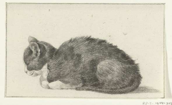 Sleeping Cat Facing Left, Jean Bernard