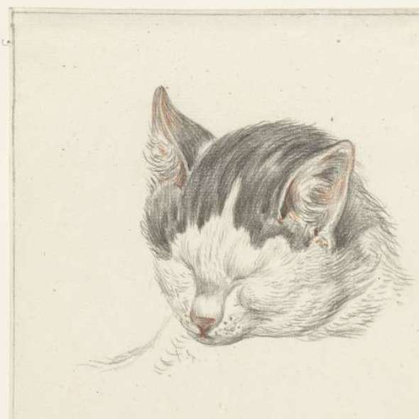 Sleepy Cat, 1828, Jean Bernard
