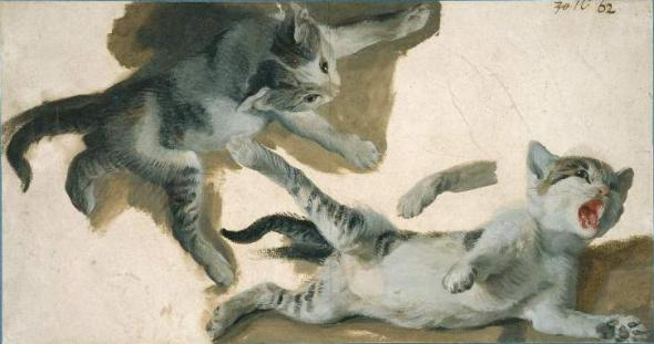 Alexandre Francois Desportes, Kittens Playing