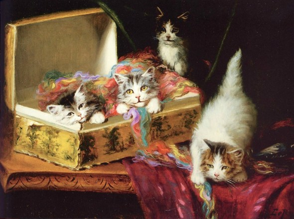 Jules Le Roy, Kittens Playing with String