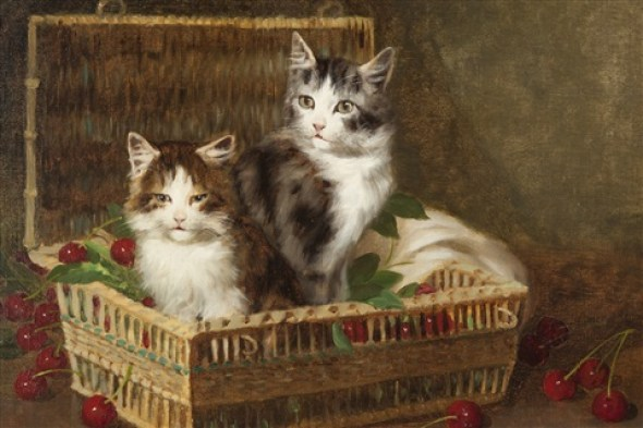 Jules Le Roy, Kittens in a Basket of Cherries