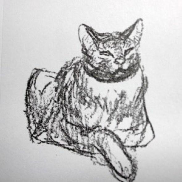 Cat Looking Forward, Theophile Steinlen