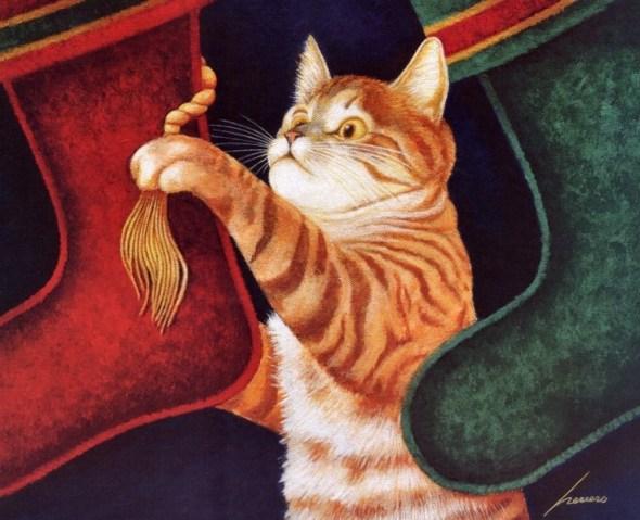 Cat and Stockings, Lowell Herrero