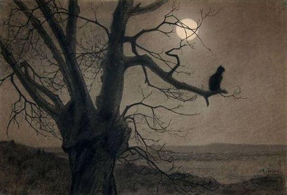 Chat au Clair de Lune, c. 1900