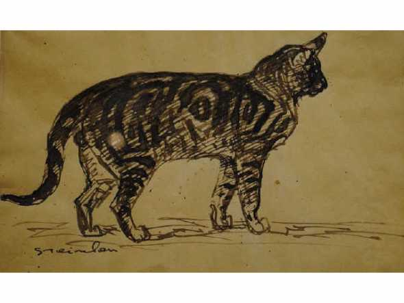 Standing Tabby Cat, Theophile Steinlen