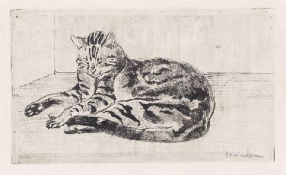 Tabby Cat Sleeping, Theophile Steinlen