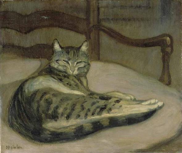 Théophile Alexandre Steinlen Cat on a Chair 1900-02