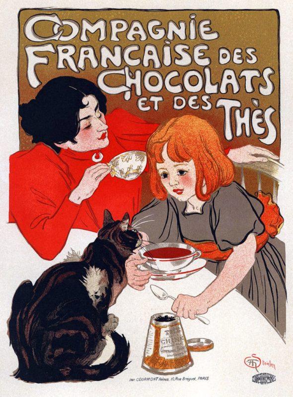 Theophile Steinlen, Chocolate Poster