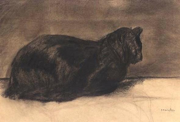 Theophille Steinlen, Sitting Black Cat