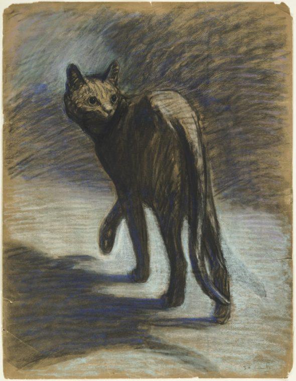 Wary Cat, Theophile Steinlen