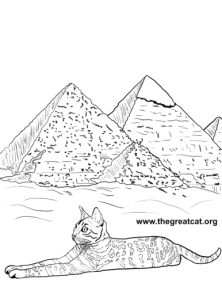 Egyptian Mau from Cat Breeds Coloring Book One by L.A. Vocelle