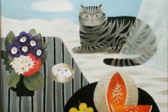Cat and Compass, Mary Fedden