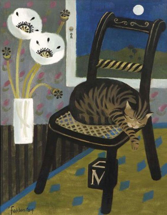 Sleeping Cat. Mary Fedden, 2004. Oil on canvas.