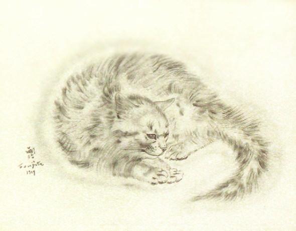 Foujita, cat