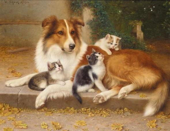Good friends Wilhelm Schwar