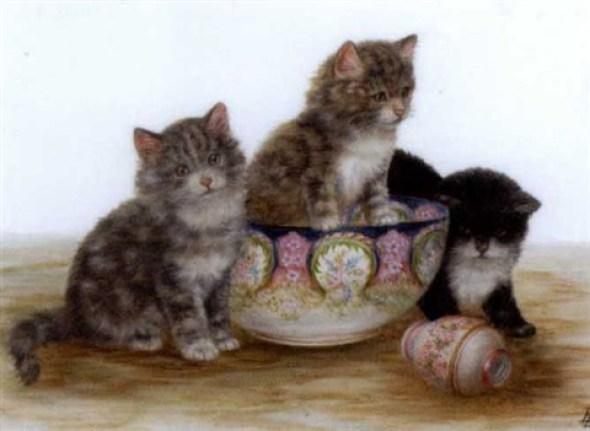 Kittens waiting for Tea, Bessie Bamber