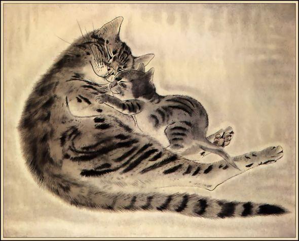 Mother and Kitten, Foujita