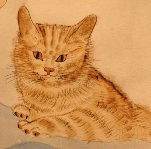 Orange Tabby Cat, Leonard Tsugouharu Foujita