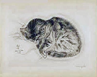 Sleeping Kitten, Leonard Foujita