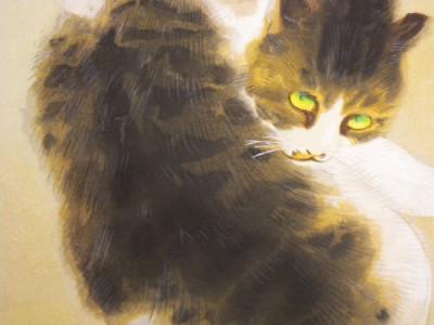 Tabby Cat, Detail, Takeuchi Seiho
